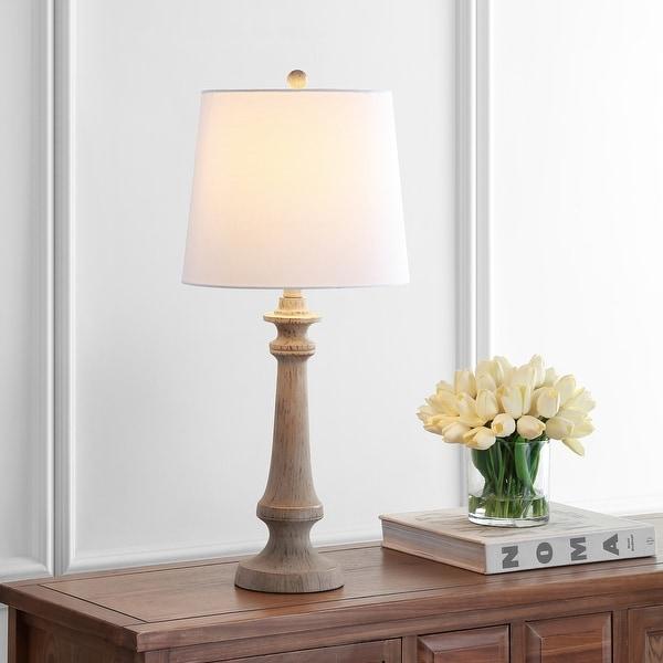 """Safavieh Lighting 28"""" Rhett LED Table Lamp - 12""""x12""""x28"""". Opens flyout."""