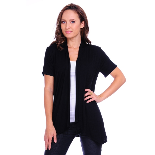 Simply Ravishing Women's Basic Short Sleeve Open Cardigan ...