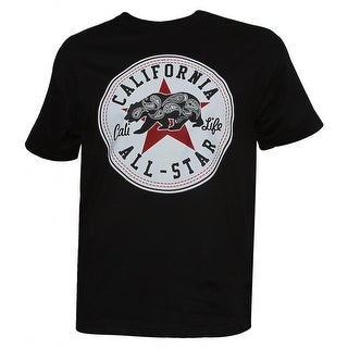 Mens Short-Sleeve Men's California All-Star Cali Life Black T-Shirt