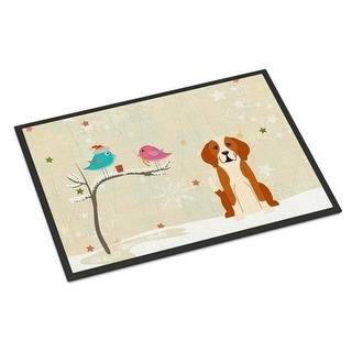 Carolines Treasures BB2582MAT Christmas Presents Between Friends English Foxhound Indoor or Outdoor Mat 18 x 0.25 x 27 in.