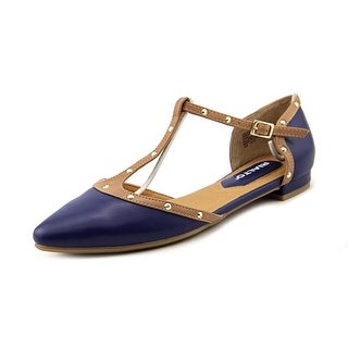 Rialto Alexia Women Pointed Toe Synthetic Blue Flats