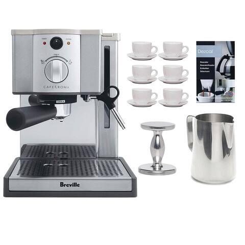 Breville ESP8-XL Cafe Roma Espresso Machine w/ Espresso Tamper Bundle