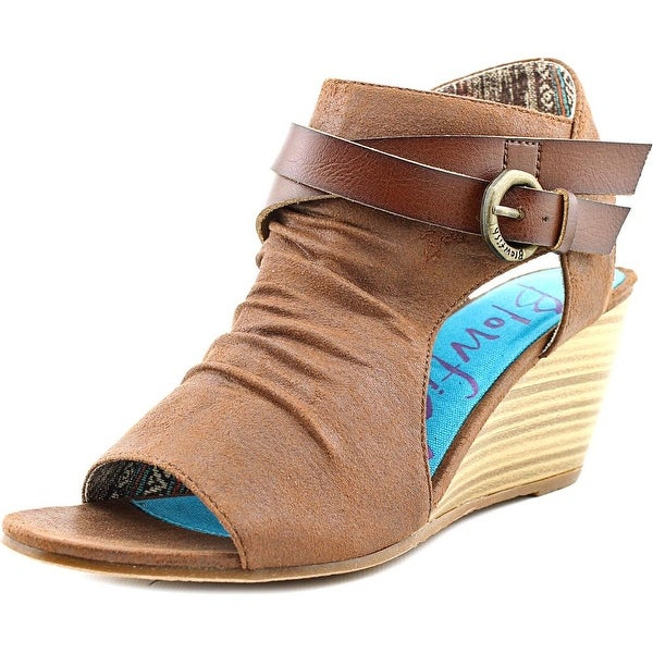 Blowfish Budha Women Open Toe Synthetic Brown Wedge Sandal