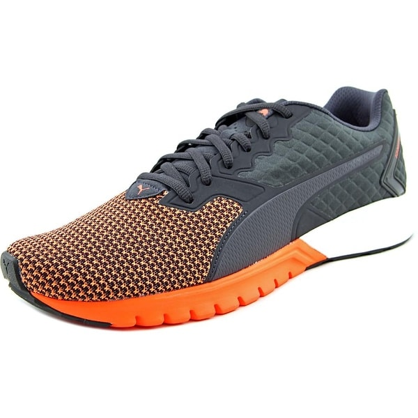 Puma Ignite Dual Nylon Men Round Toe Synthetic Gray Running Shoe