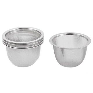 Unique BargainsKitchen Metal Tea Leaves Residue Drain Sink Mesh Strainer Infuser 75mm Dia 5pcs