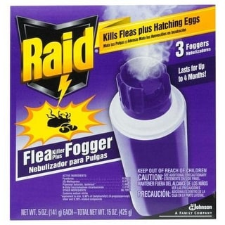 Raid 41654 House & Yard Flea Killer Plus Fogger, 16 Oz