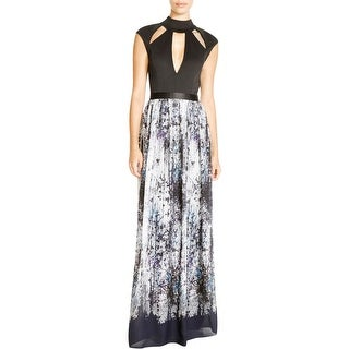 ABS Collection Womens Maxi Dress Chiffon Printed Cut-Out