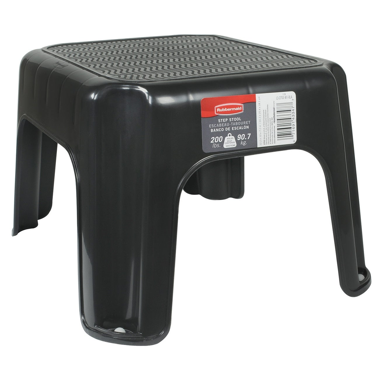 Superb Rubbermaid 1858957 7 12 Tall Plastic Step Stool Black Gamerscity Chair Design For Home Gamerscityorg