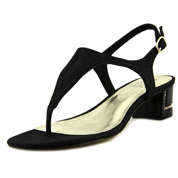 Adrianna Papell Cassidy Women Open Toe Synthetic Black Sandals