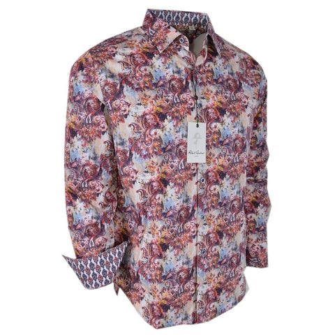 Robert Graham ENTERTAINER Paisley Print Classic Fit Sports Shirt