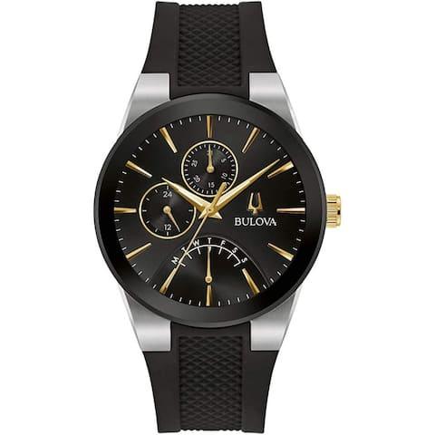 Bulova Men's 98C138 'Futuro' Chronograph Silicone Watch - Black