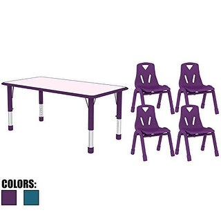 2xhome Kids Table And Chairs Sets For Toddler Child Children Preschool  Daycare School Wood Activity Plastic