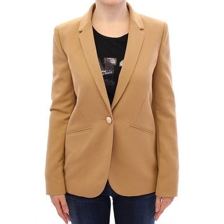 Armani Armani Beige One Button Blazer Jacket - it40-s