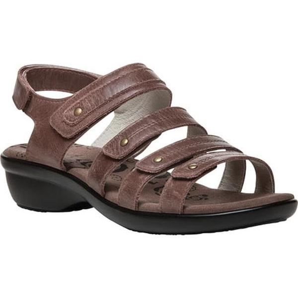 5eebb3047480 Propet Women  x27 s Aurora Strappy Slingback Sandal Brown Full Grain Leather