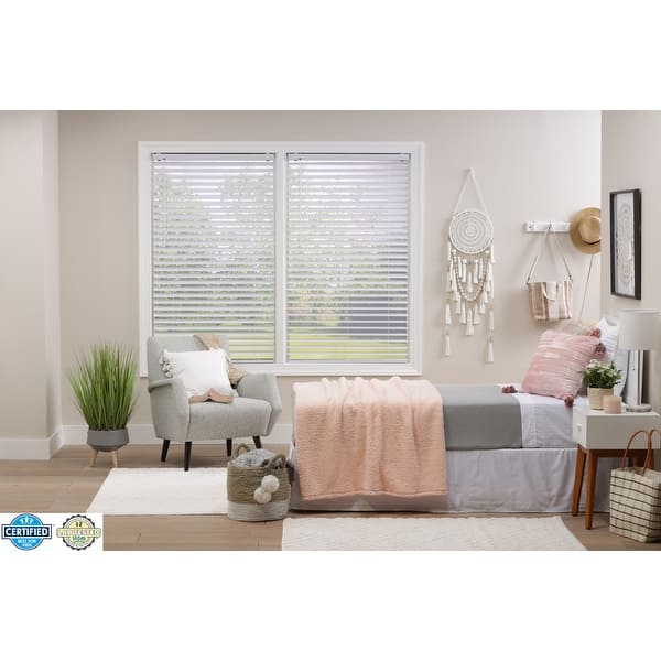 2 Inch White Cordless Plantation Vinyl Blind 72 Inches Long Overstock 31515595