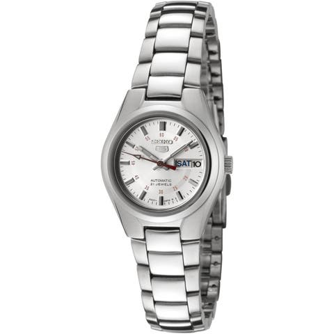 Seiko Women's 5 Automatic Silver Stainless-Steel Automatic Fashion Watch