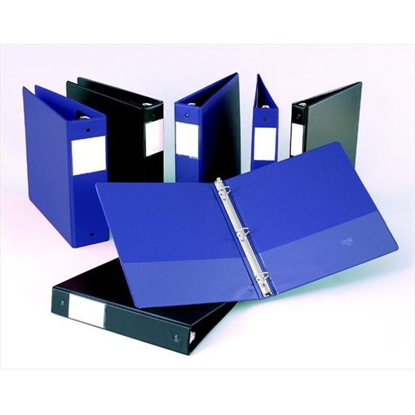 shop 1 5 in value plus pvc round ring binder with label holder