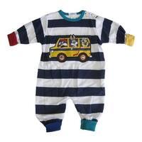 WB Baby Boys Navy White Stripe Looney Tunes Print Snap Closure Bodysuit 12-24M
