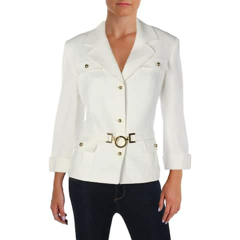 Tahari ASL Womens Three-Button Blazer 3/4 Sleeves Office