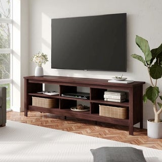 TV Stand for 75 inch TV Entertainment Center,Brown-70 inch - 73 inches (73 inches - Brown) -  WAMPAT