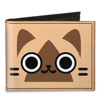 Airou Face Close Up + Logo Browns Canvas Bi Fold Wallet One Size - One Size Fits most