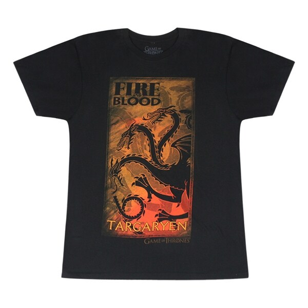 30499617605fe Game Of Thrones Targaryen House Symbol Black T-shirt