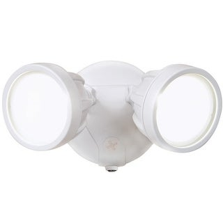All-Pro FTR1740LPCW Dusk to Dawn LED Outdoor Flood Light, White, 1600 Lumens - White