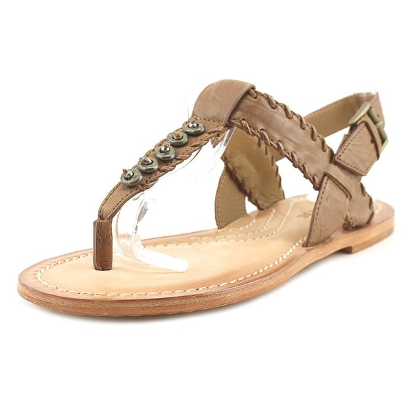 H.S. Trask Briana Women Open Toe Leather Brown Thong Sandal