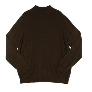 Club Room NEW Brown Taupe Mens Size Medium M Turtleneck Wool Sweater
