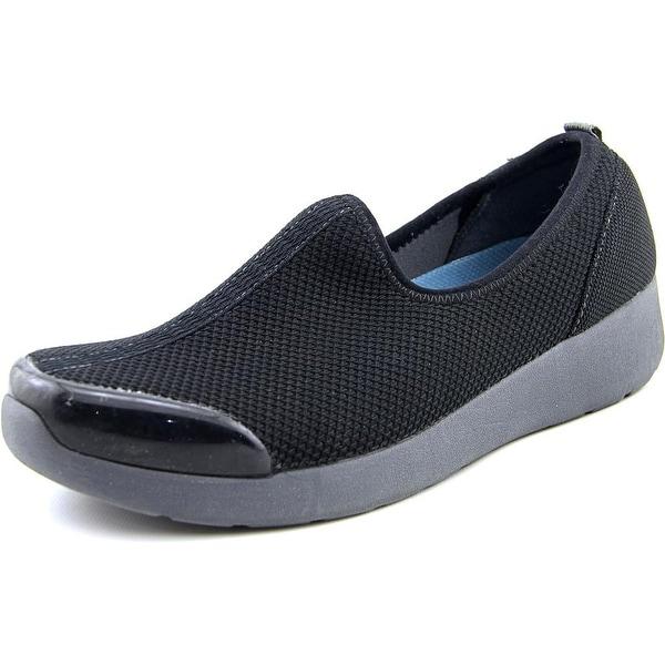 Easy Spirit e360 Fun Runner Women Round Toe Canvas Black Walking Shoe