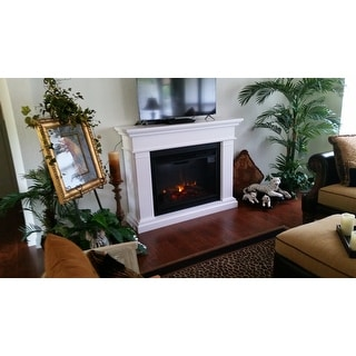 Kennedy Grand Electric White Fireplace by Real Flame - Free ...