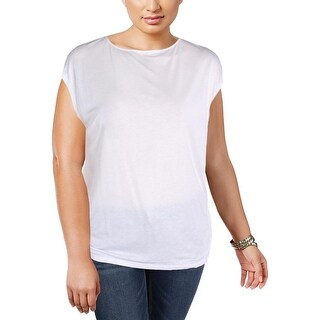 Lauren Ralph Lauren Womens Plus T-Shirt Glitter Jewel Neck