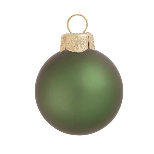 "6ct Matte Shale Green Glass Ball Christmas Ornaments 4"" (100mm)"