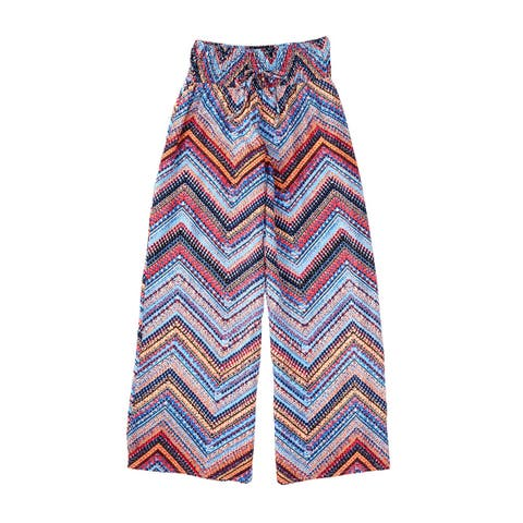 My Michelle Blue Girl's Size Medium M Pull-On Mix-Print Pants