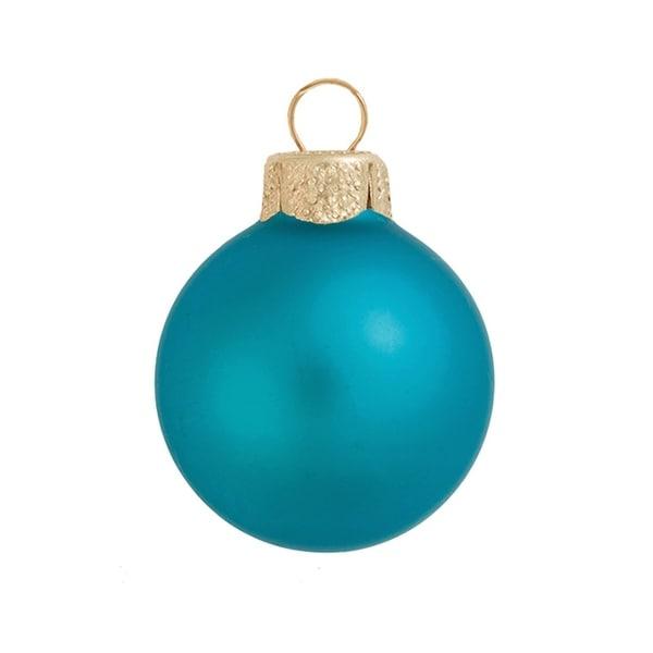 "4ct Matte Teal Green Glass Ball Christmas Ornaments 4.75"" (120mm)"