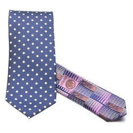Versace Medusa Tonal Silk Men Neck Tie CR39CN1965 0088 Navy Purple