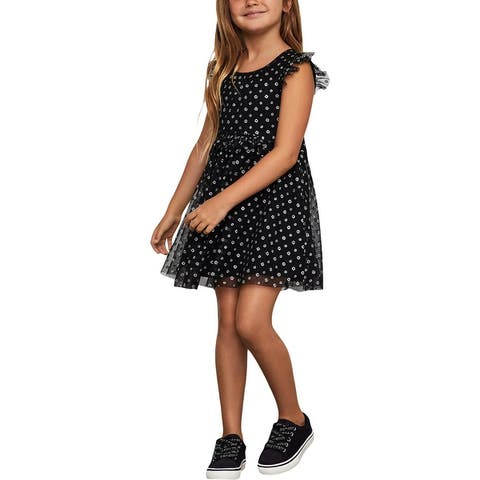 BCBGirls Girls Party Dress Metallic - Black