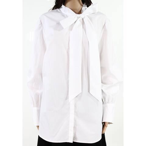 Lauren by Ralph Lauren Womens Top White Size 3X Plus Button Front