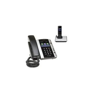 Polycom VVX 500 (2200-44500-025) w/ 1 Wireless Handset VVX 500 Business Media Phone