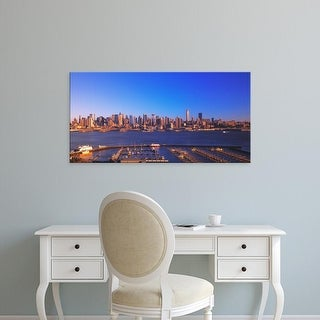 Easy Art Prints Panoramic Image 'Buildings at the waterfront, Manhattan, New York City, New York, USA' Canvas Art
