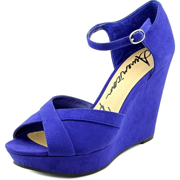 American Rag Audrey Women Open Toe Canvas Wedge Sandal