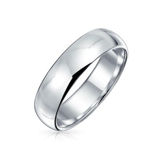 Bling Jewelry Polished 5mm Unisex Sterling Silver Wedding Band