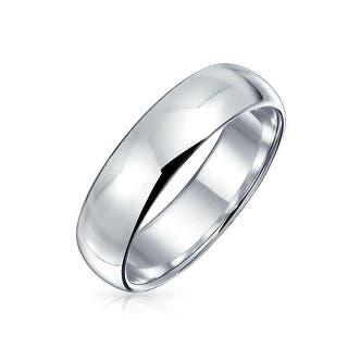 Bling Jewelry Polished 5mm Uni Sterling Silver Wedding Band