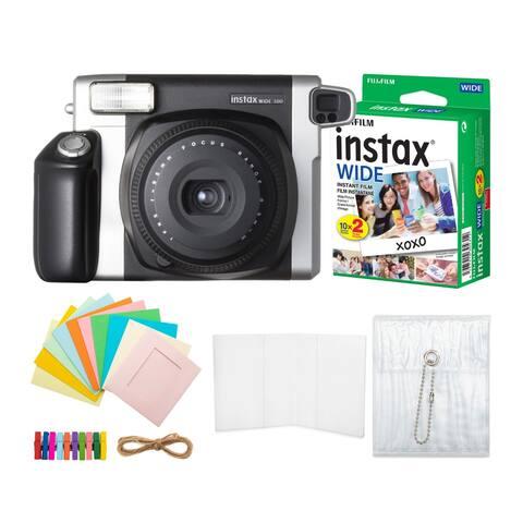 Fujifilm Instax Wide 300 Instant Film Camera w/ Twin Pack Film Bundle
