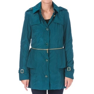 Betsey Johnson Womens Anorak Jacket 2-in-1 Peplum