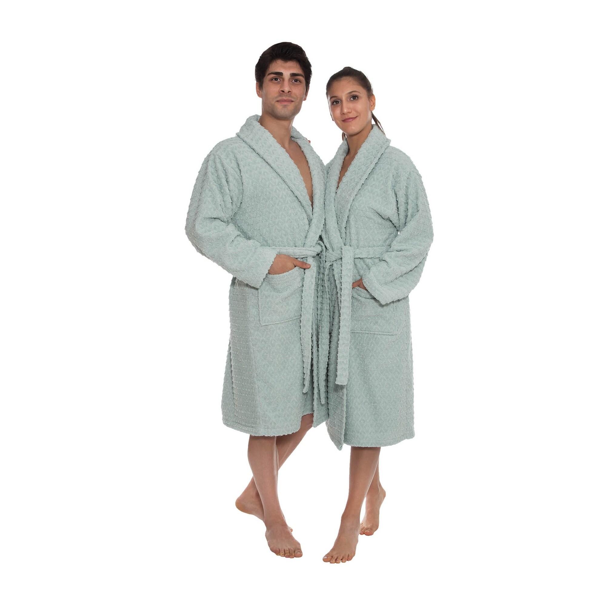 Ozan Premium Home Azure Bathrobes Collection 100 Turkish Cotton Unisex Terry Cloth Bathrobe On Sale Overstock 32428634
