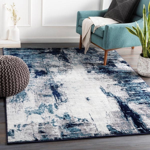 Cooke Industrial Abstract Polyester Area Rug. Opens flyout.