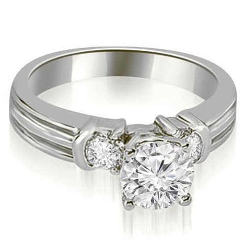 1.00 cttw. 14K White Gold Prong Set Round Cut Diamond Engagement Ring