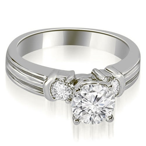 1.25 cttw. 14K White Gold Prong Set Round Cut Diamond Engagement Ring
