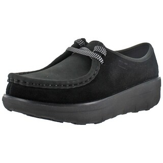 FitFlop Womens Loaff Lace Up Moc Wallabee Leather Shoes